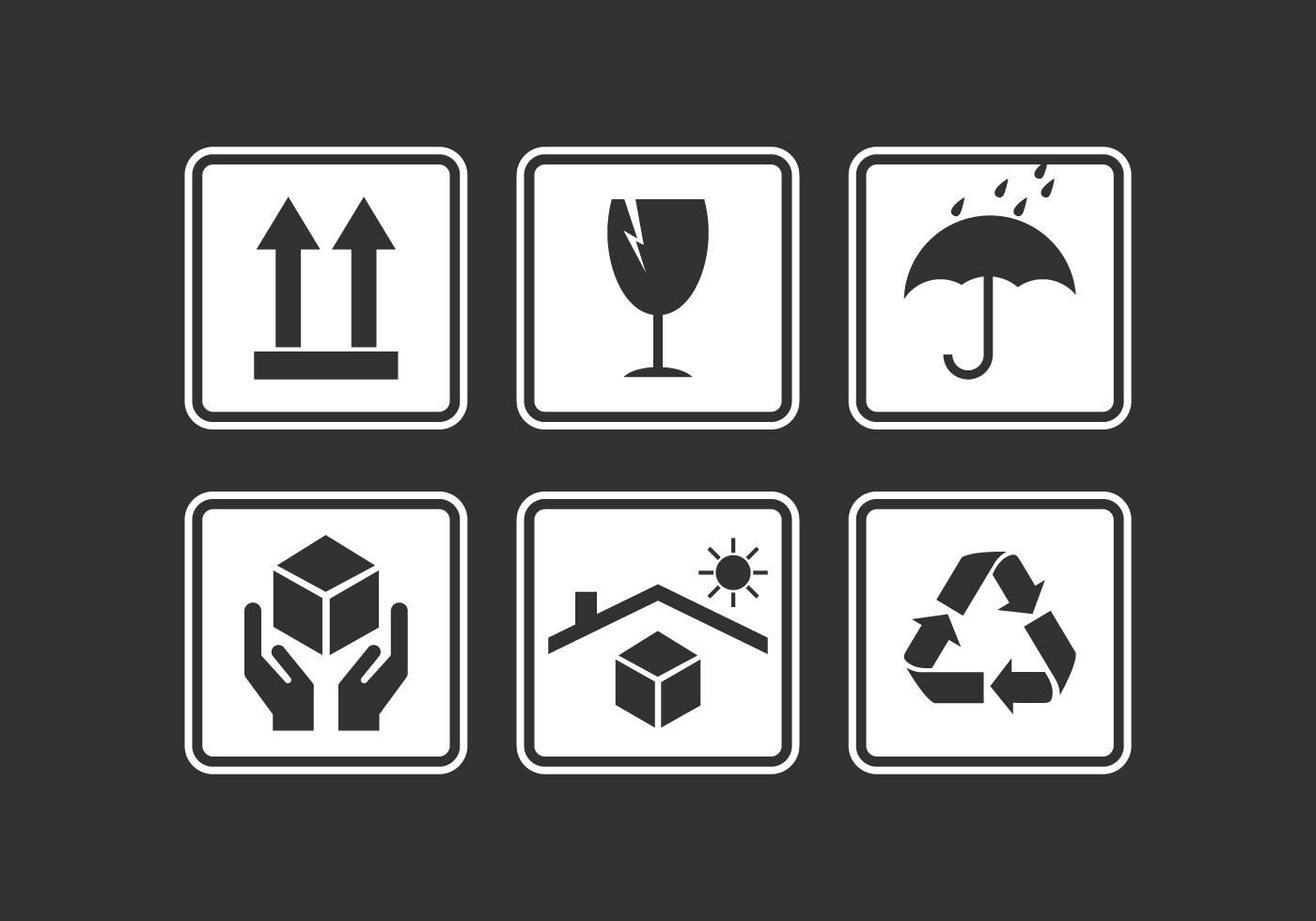 Vector Handle with Care Sticker Pack Vector icons free