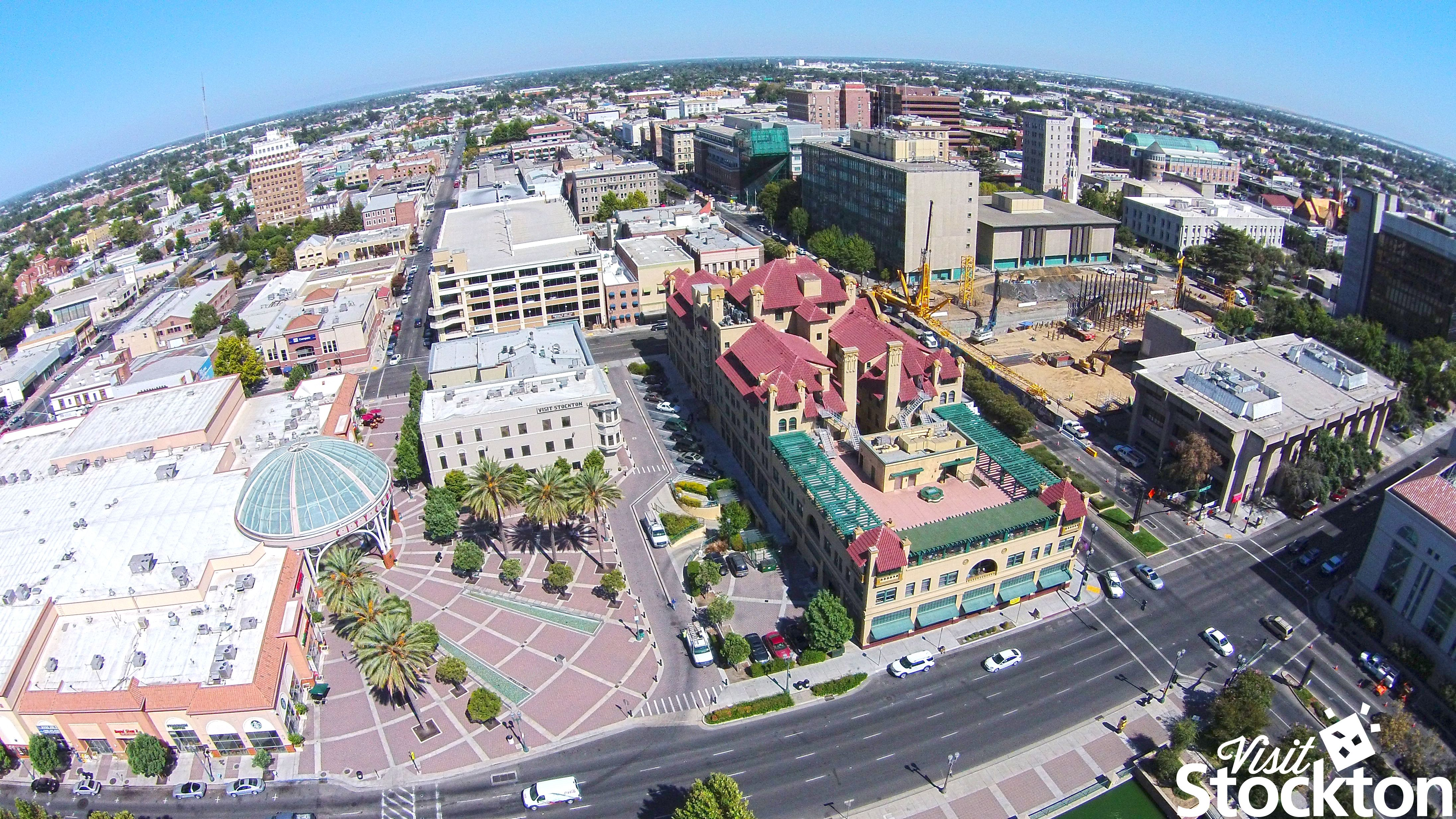 Downtown Stockton, CA looking east. | Usa
