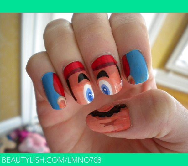 It\'s a-me, Mario! Nail Art by Nick | Lindsay N.\'s (lmno708) Photo ...