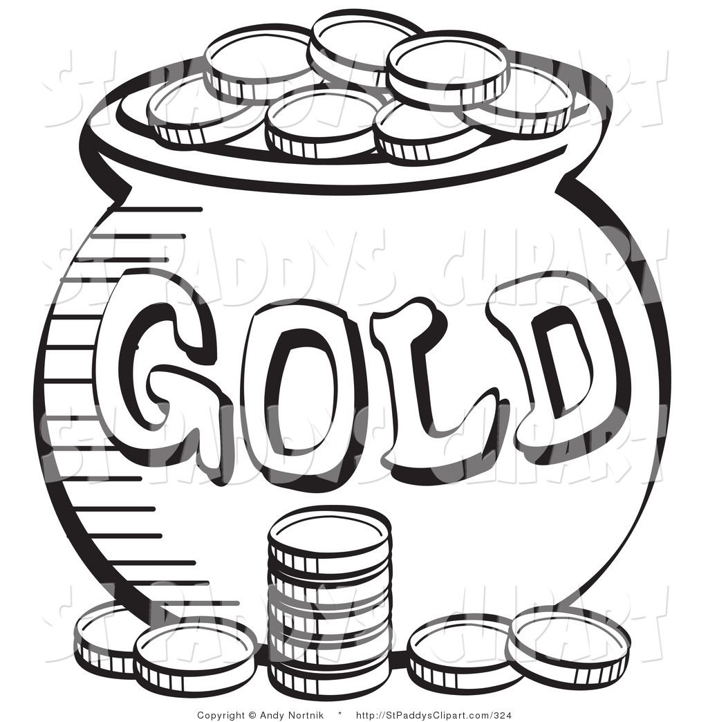 st. patrick\'s day pot of gold clip art | Vector Clip Art of a St ...