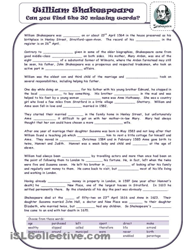 shakespeare worksheets - Yahoo Image Search Results | Happy ...