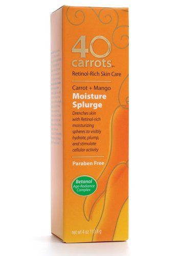 40 Carrots Moisture Splurge 4 Ounce Boxes By 40 Carrots 16 71 Retinol Rich Skin Care Drenches Skin With Retinol Paraben Free Products Moisturizer Retinol