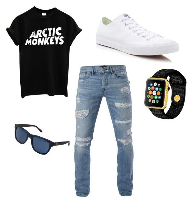 """""""Bad boy.."""" by alyssalujan on Polyvore featuring 3x1, Converse, Polo Ralph Lauren, men's fashion and menswear"""