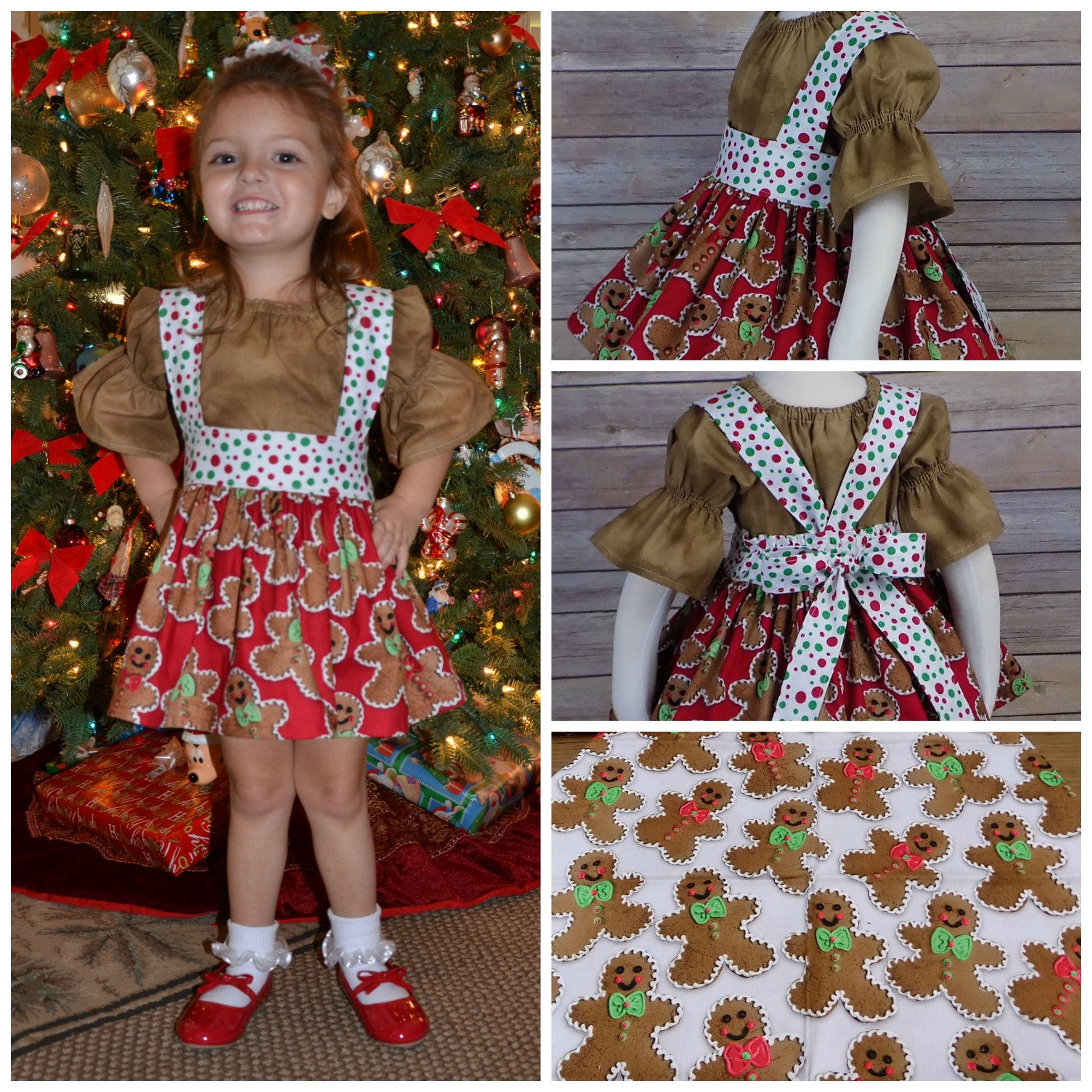 Girls Gingerbread Dress Toddler Christmas Dress Boutique  Etsy