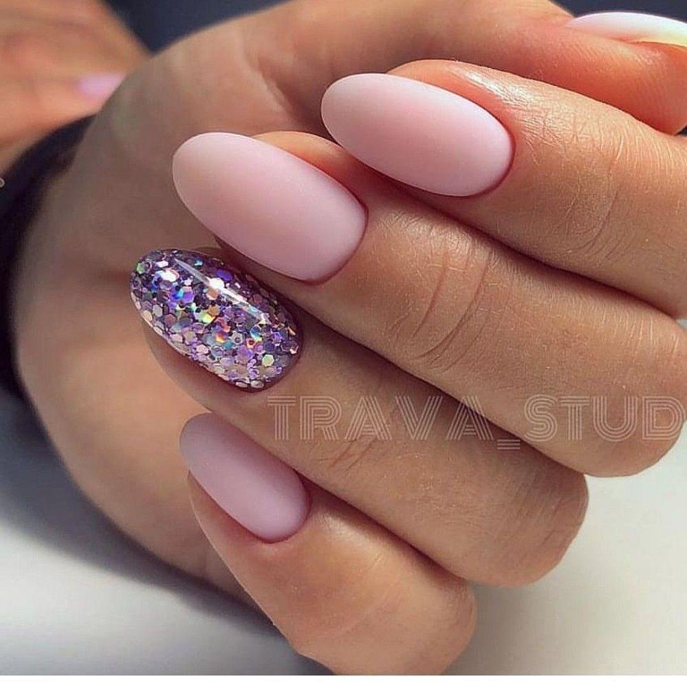 lavender hue nail art design
