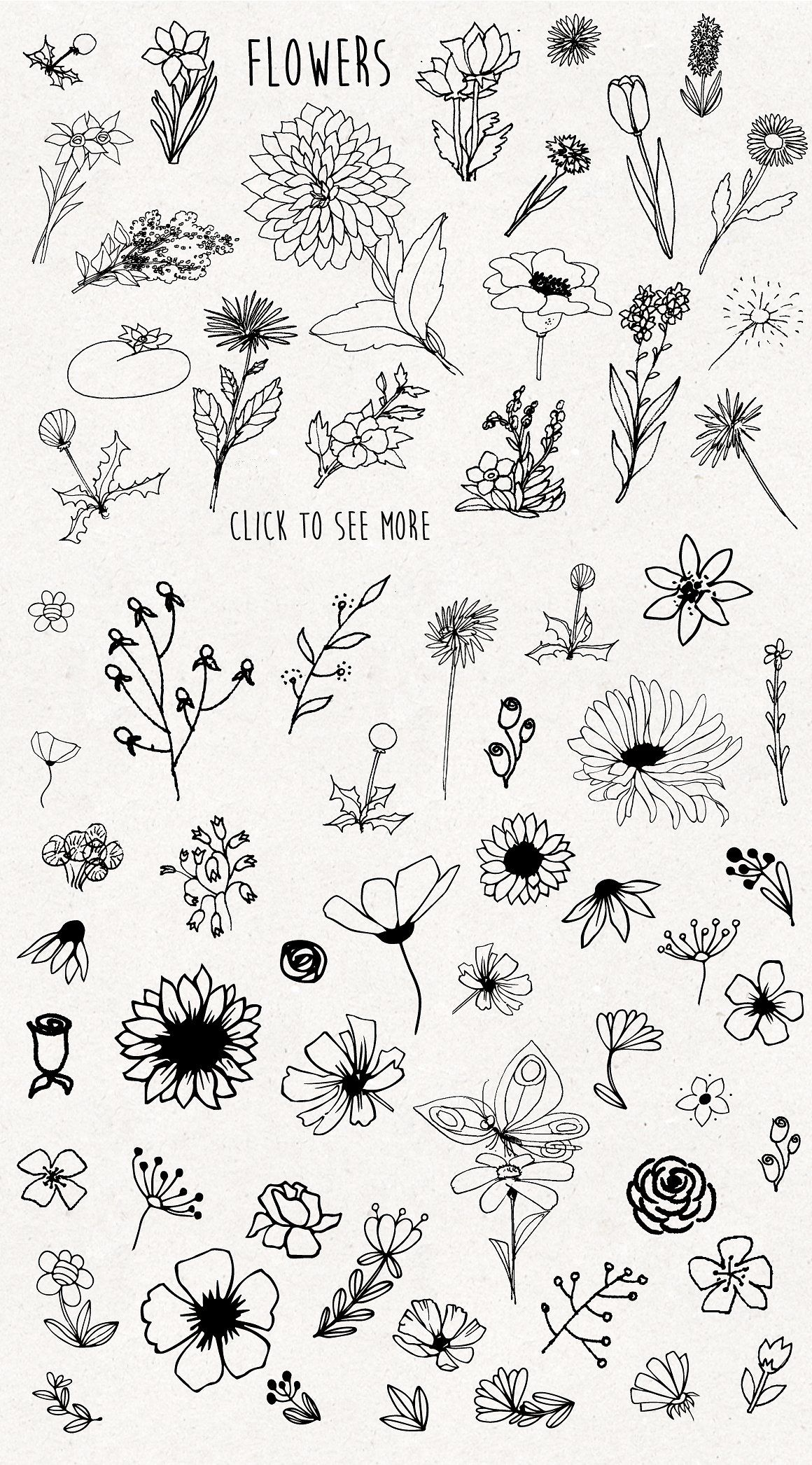 Only Flowers Flower Sketches Bullet Journal Art Floral Drawing