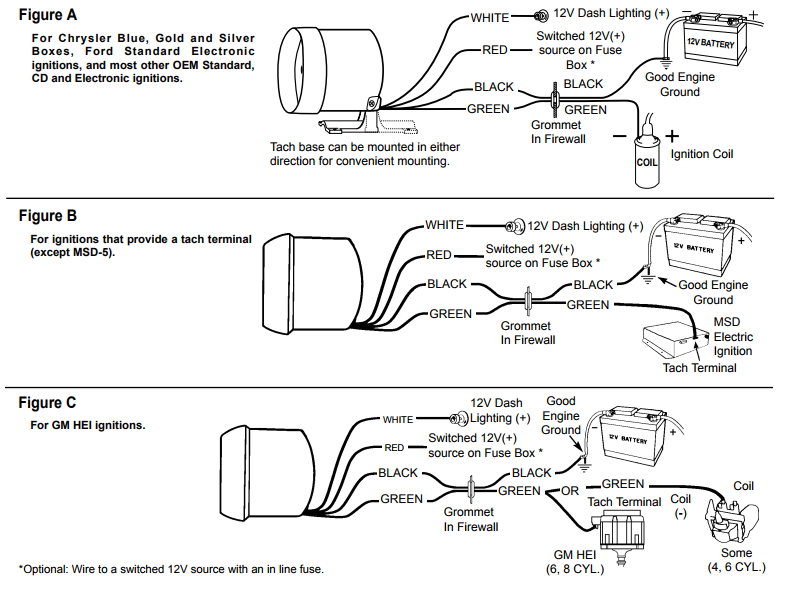 Auto Meter Tach Wiring Diagram For 5160 - wiring diagrams