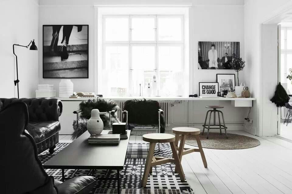 livingroom #black and #white #scandinavian #CasualChicStyle HOME