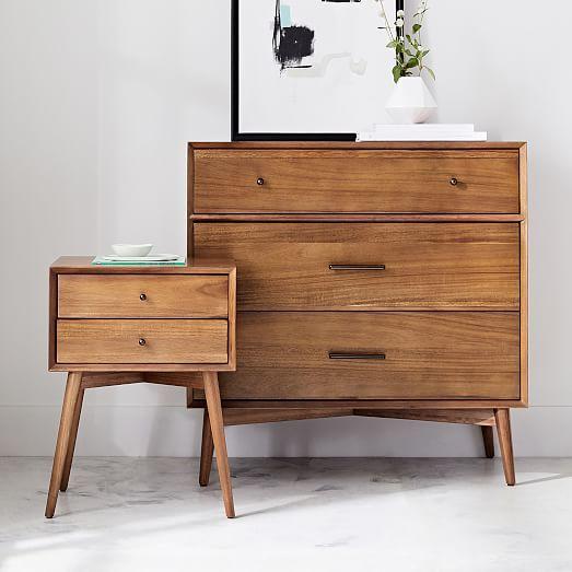 183a20bb297af Mid-Century 3-Drawer Dresser - Acorn