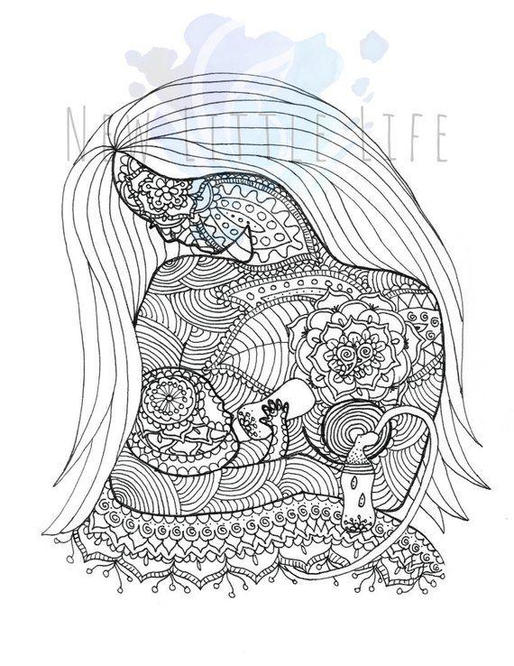 Pumping Mom Coloring Page Digital Download Birth Art Etsy In 2021 Mom Coloring Pages Coloring Pages Birth Art