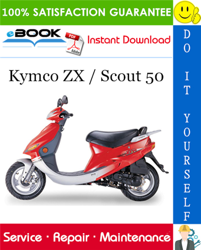 Kymco Zx Scout 50 Scooter Service Repair Manual Repair Manuals Repair Scout