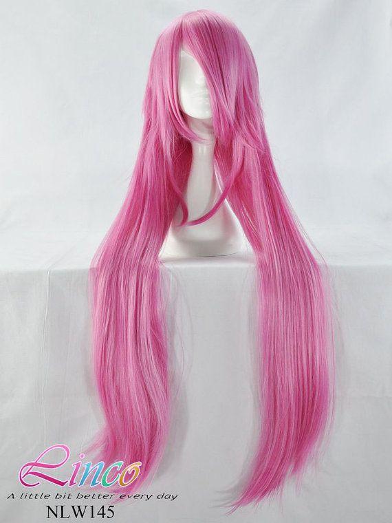 Super Long 110cmlongklightpinkcosplayanimewig By Lincofashionwigs 24 99 Dramatic Hair Kawaii Hairstyles Hair Styles