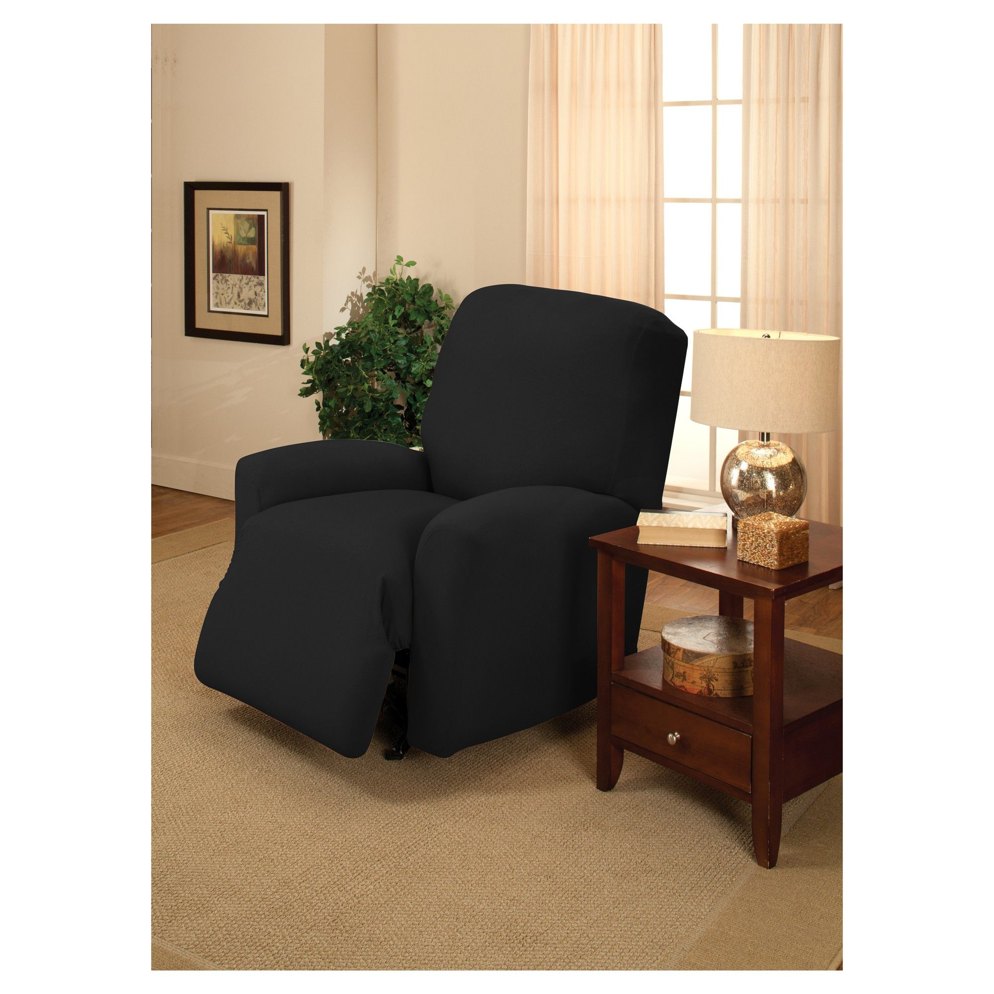 blue machine recliner sensations spandex jumbo for basketweave wash polyester pin slipcover recliners slipcovers stretch