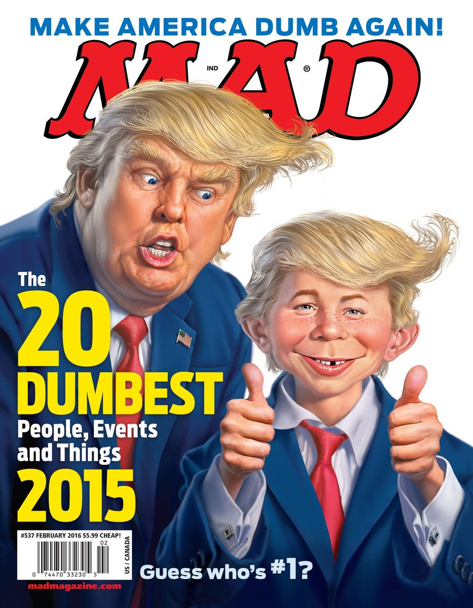 Image result for 1992 mad magazine lampoons trump