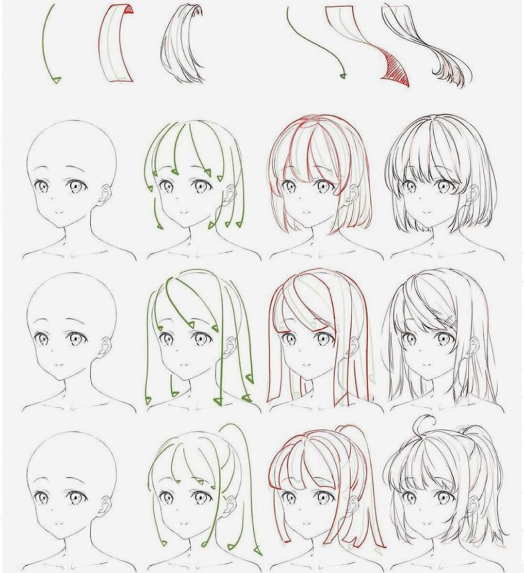 Anime Hair Tutorial Tag Someone Who Needs Help With Hair In 2020 Anime Drawings Tutorials Manga Drawing Tutorials Anime Drawings Sketches