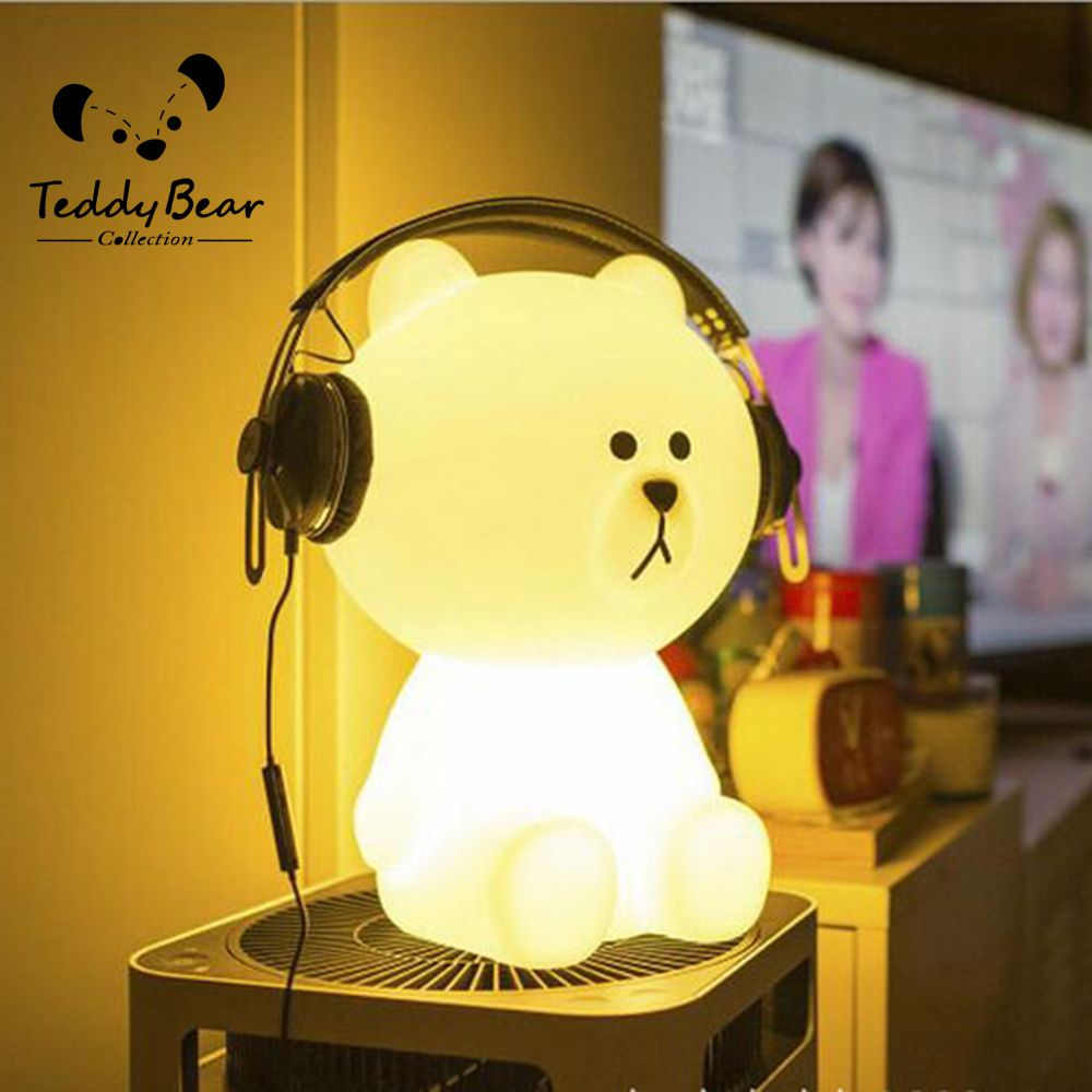 Find More Night Lights Information About Teddy Collection Rechargable LED  White Teddy Bear Cartoon Animal LED Table Desk Lamp Light Children Gift  Night ...