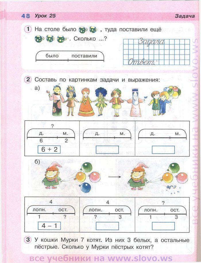 Www.slovo.ws по математике 1 класс петерсон