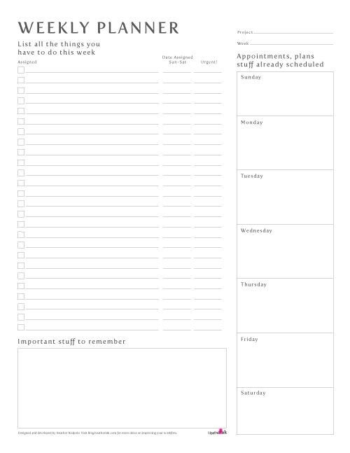 Weekly Planner Printable Weekly Organizer    A4 от EasyPeasyPaper - phase 10 score sheet template