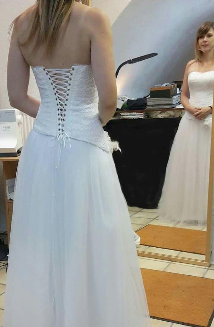 Wedding dress corset tulle lace   Robes de mariée Gabardine   Pinterest