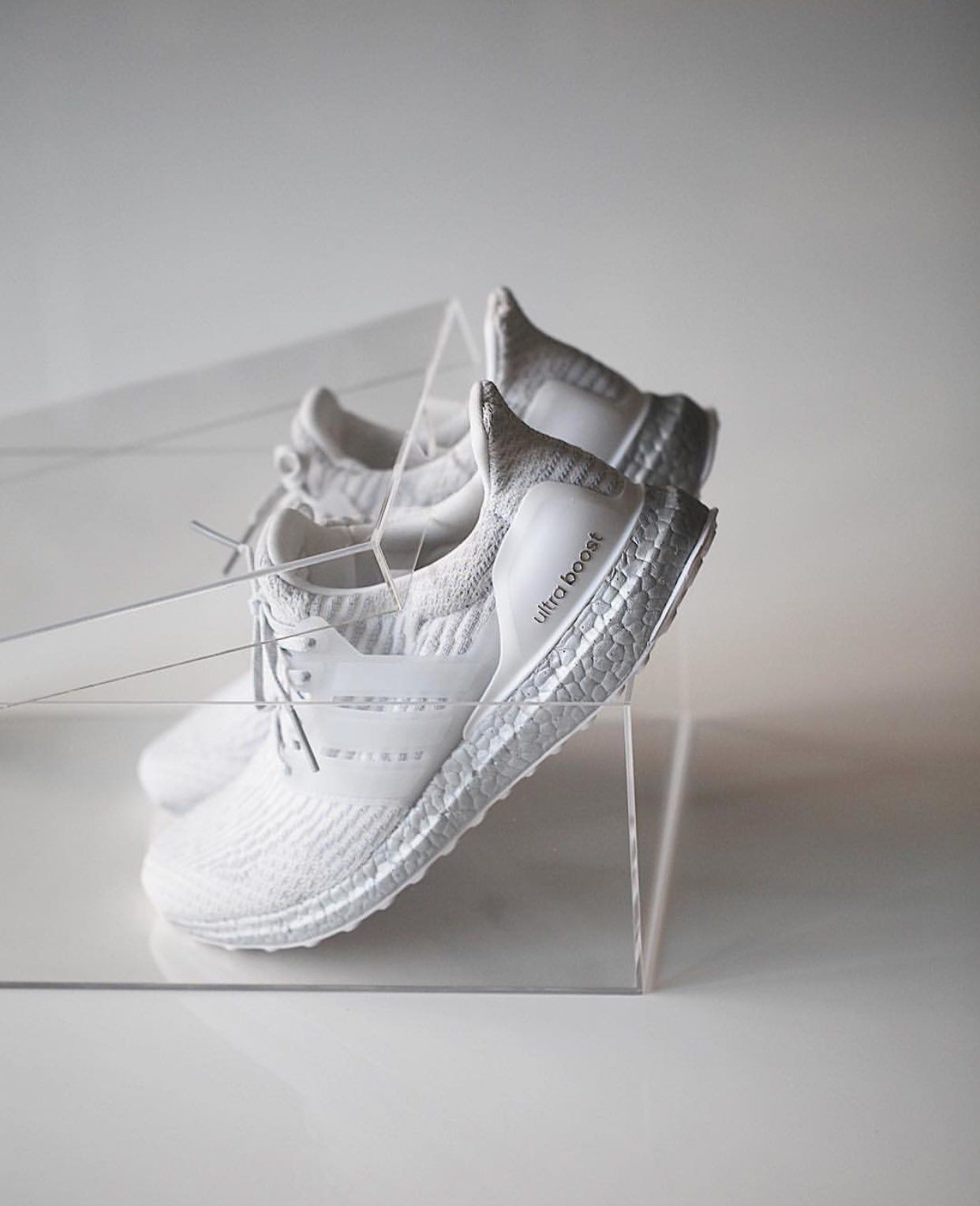 new concept 43e10 e2710 ... promo code for crystal white. adidas ultra boost 3.0 with silver boost  sole. 65612