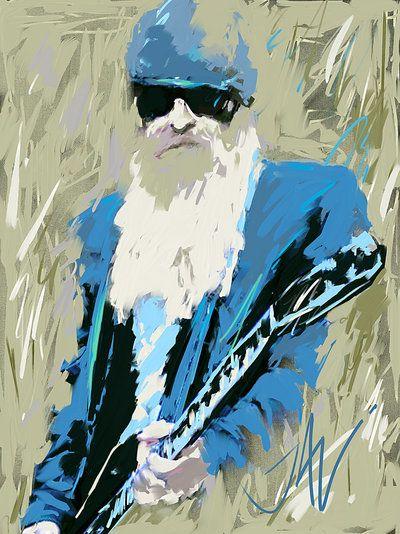 billy gibbons / ZZTop / Illustrator ? Zippertravel.com Digital Edition