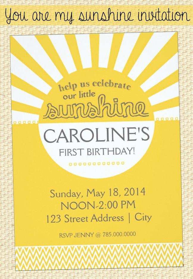 Sunshine Birthday Invitation Zazzle Com Sunshine Birthday Sunshine First Birthday Sunshine Birthday Parties