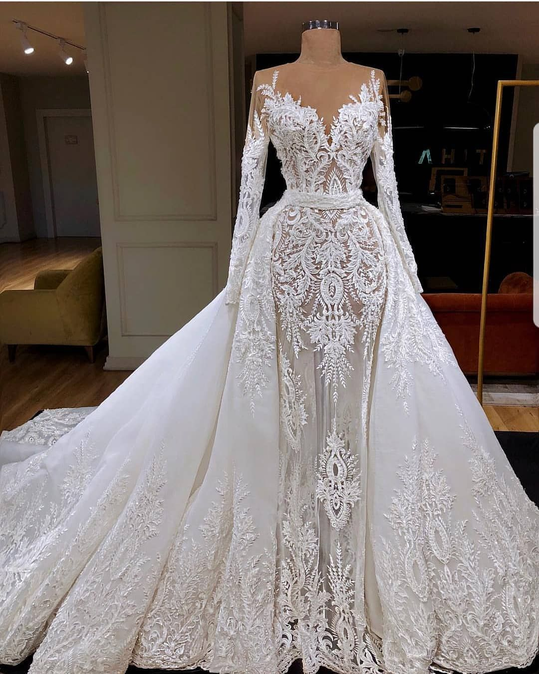 Custom Made Wedding Dress With A Hand Embroidery Send Us Photo Of Your
