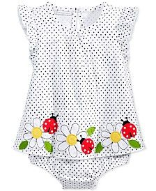 First Impressions Baby Girls' Dot & Ladybug Sunsuit, Only at Macy's