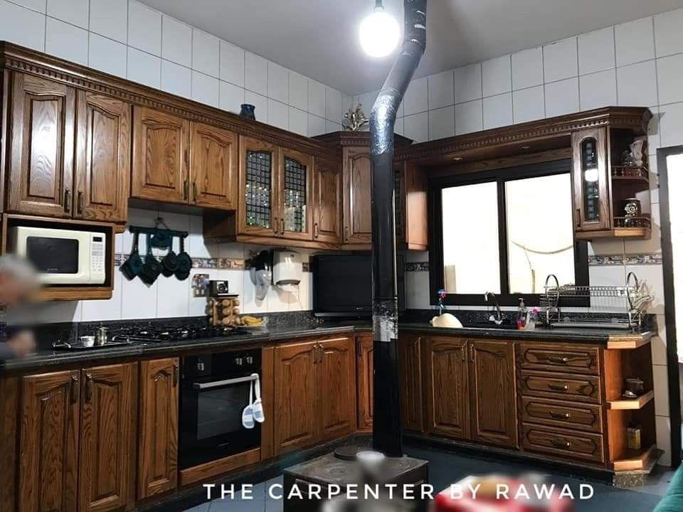 Oakwood Kitchen مطبخ سنديان Kitchen Furniture Design Kitchen Kitchen Furniture