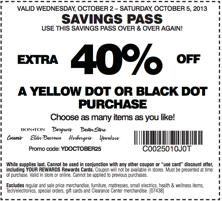 photo about Carsons in Store Coupons Printable identify Carson Pirie Scott: 40% off Printable Coupon Coupon