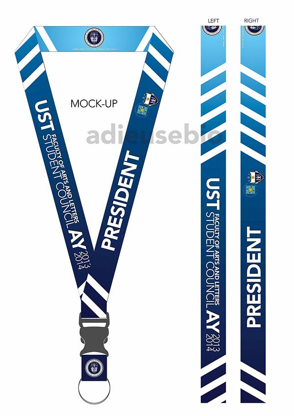 lanyard design for ust faculty of arts and letters sc on