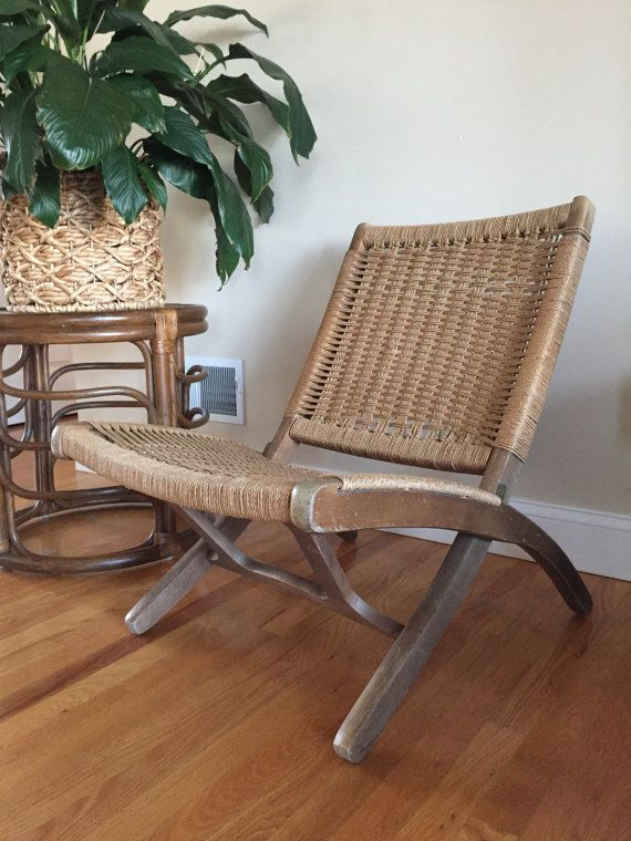 Hans Wegner Style Woven Rope Chair Folding Rope By