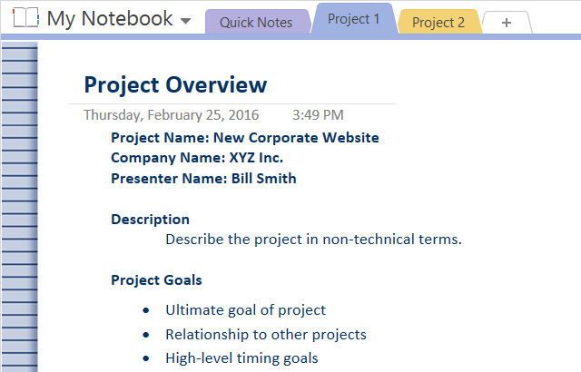 How to adopt onenote templates for project management onenote how to adopt onenote templates for project management maxwellsz
