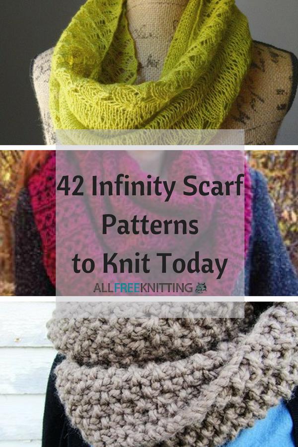 42 Infinity Scarf Patterns to Knit Today   Bufandas de punto, Tejido ...