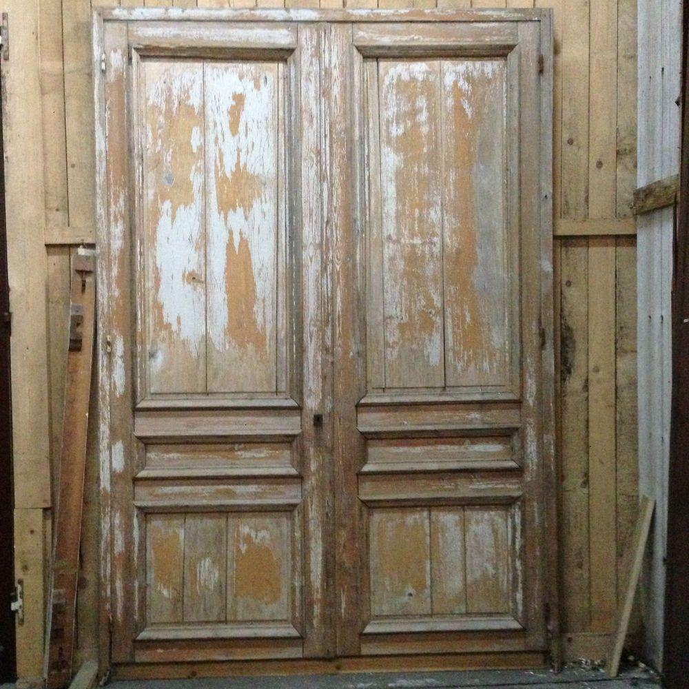 Placard double portes en sapin massif patin e porte for Porte interieur sapin