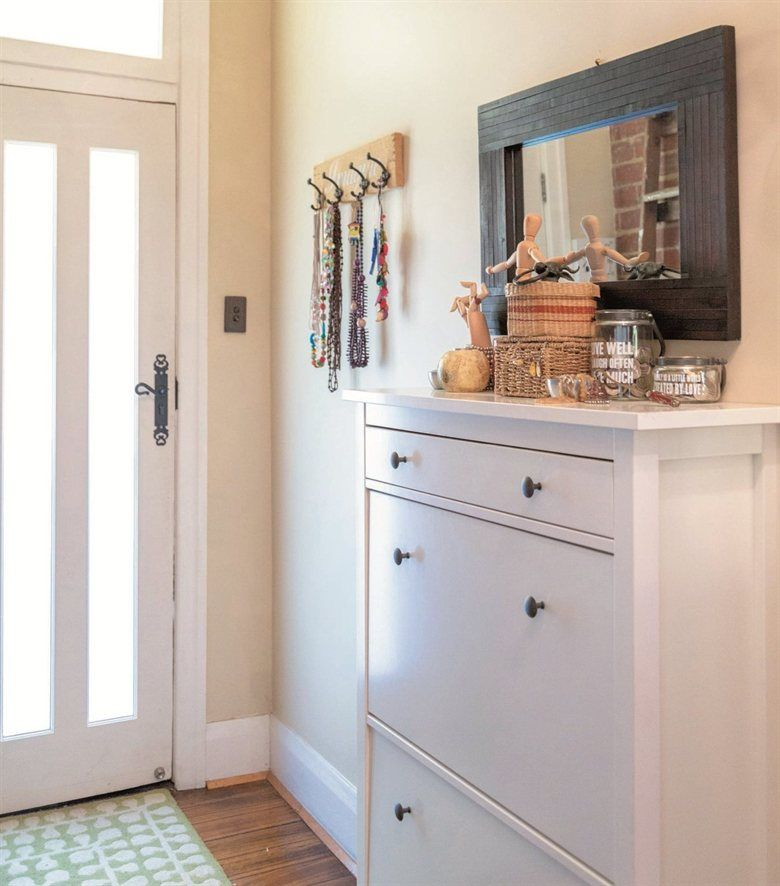 Turn A Narrow Hallway Into A Mini Dressing Room With A Hemnes Cabinet Spotted In Radmila S Home In Australia Home Hall Decor Entryway Inspiration Narrow chest of drawers for hallway