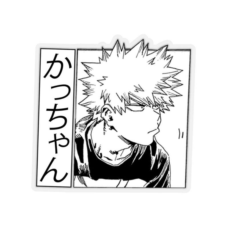 Bakugou Kiss-Cut Stickers, mha sticker, bnha stick