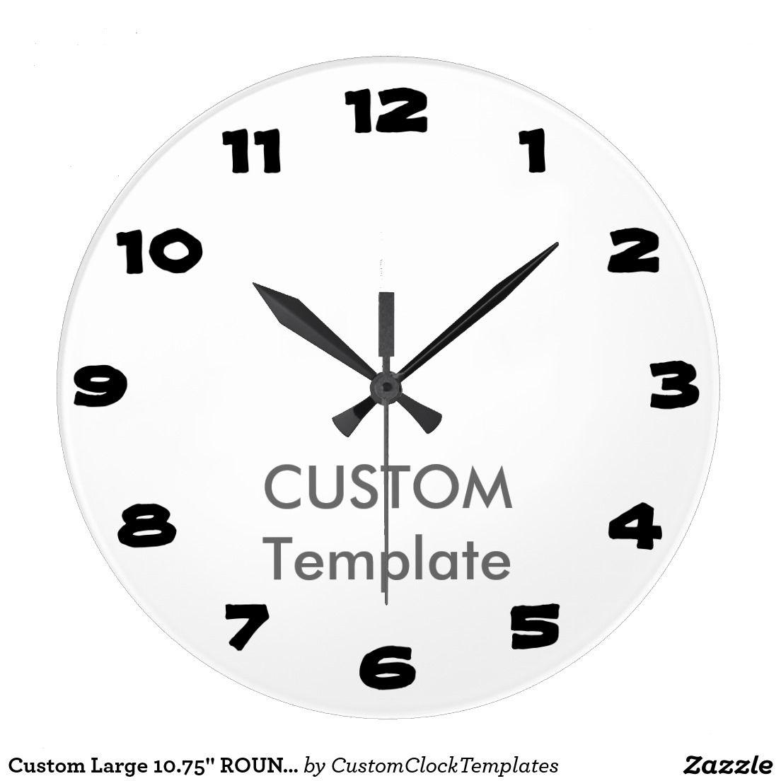 Custom Large  Round Wall Clock Islander  Custom Clock