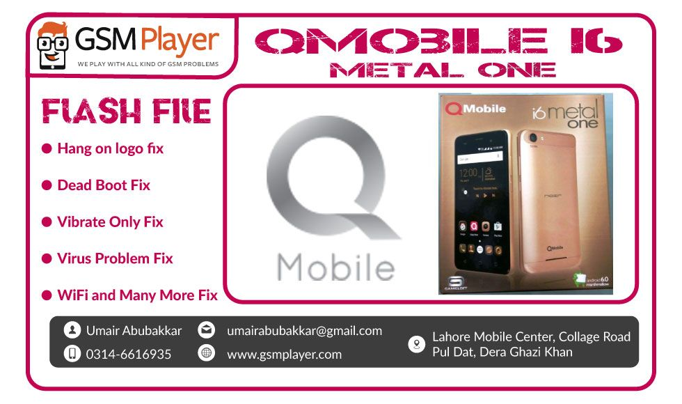 QMobile i6 Metal One Firmware | Mobiles | Nokia 1, Box software, Metal