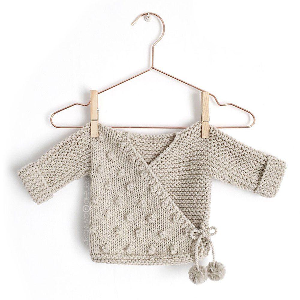 Kimono de Punto para Bebé [ Tutorial y Patrón GRATIS ] | Patrones ...