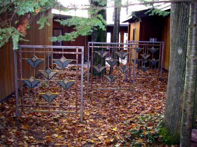 Frank Lloyd Wright Styled Fence Fences