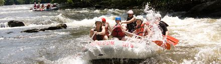 Family River Rafting Trips Near Gatlinburg, TN! For family adventure, raft Tennessee's Big Pigeon River, near Gatlinburg, Pigeon Forge and Sevierville. Pigeon River whitewater rafting features spirited Class III-IV rapids that flow along the eastern border of the Great Smoky Mountains National Park.