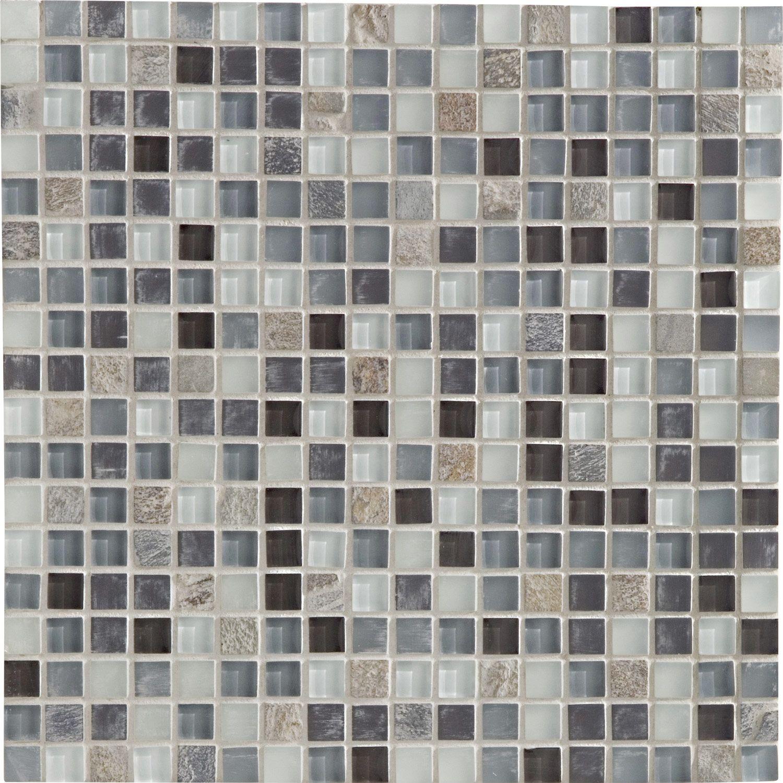 Mosaique Fusion Ikat Artens Multicolor 1 5x1 5 Cm Leroy Merlin Carrelage Interieur Salle De Bain