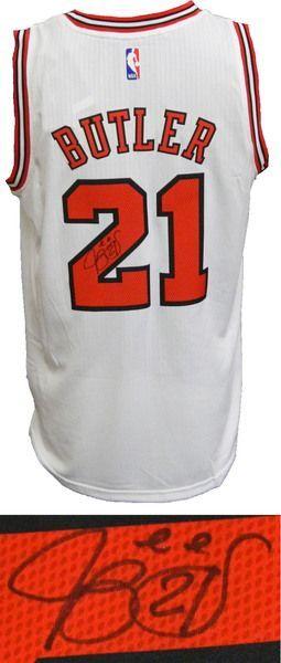 52a374cb4 Jimmy Butler Signed Chicago Bulls White Official Adidas NBA Swingman  Premier Jersey - Schwartz COA