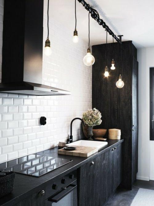 coole diy lampen aus glühbirnen  diy lampen küchen