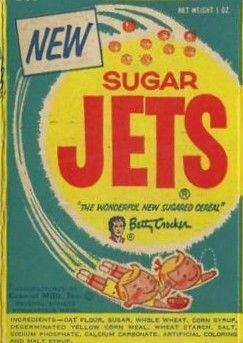 Vintage Cereal Boxes Sugar Jets Vintage Sugar Jets Cereal Box