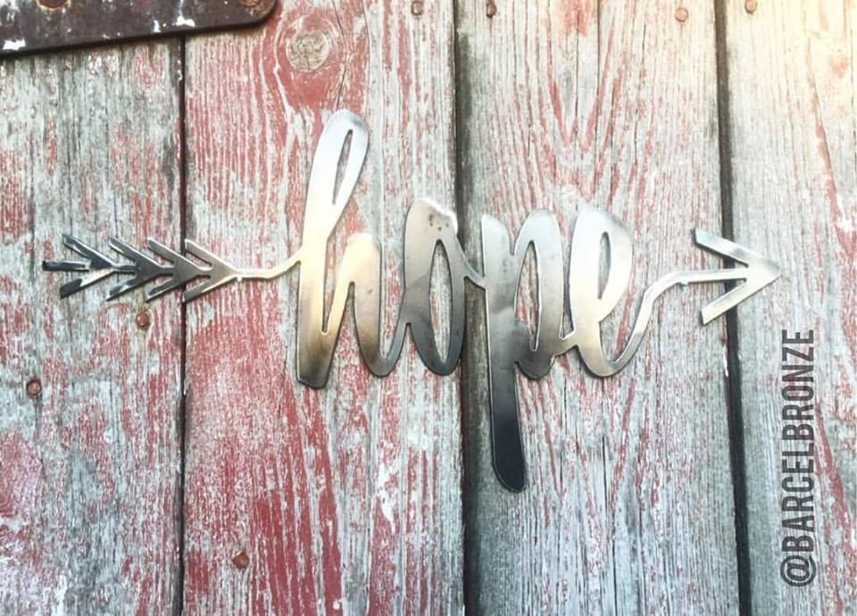 Brand new Hope Sign, Hope Wall Decor, Metal Sign Custom, Metal Arrow Wall  GH82