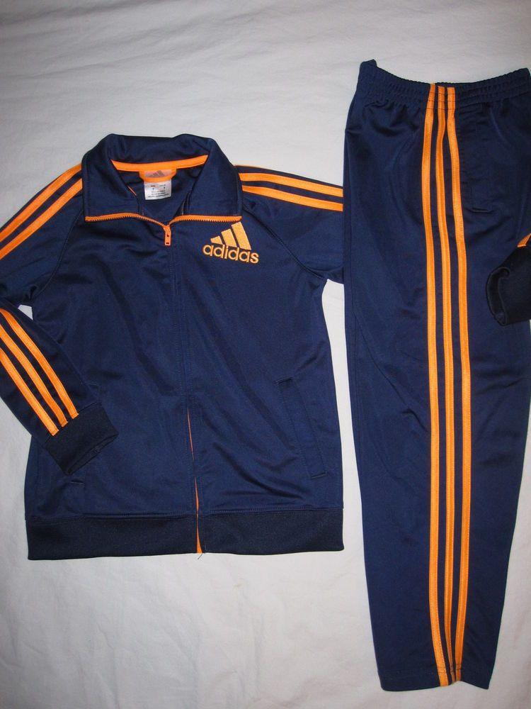 11a711b5895f ADIDAS Boys Athletic Lot Navy Orange Tracksuit Jacket Warm Up Pants Size 7  LN  fashion  clothing  shoes  accessories  kidsclothingshoesaccs ...