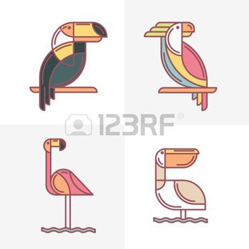 49513387-set-of-vector-exotic-tropical-birds-logo-icons-colorful-line-birds-illustration-of-toucan-cockatoo-p.jpg (350×350)