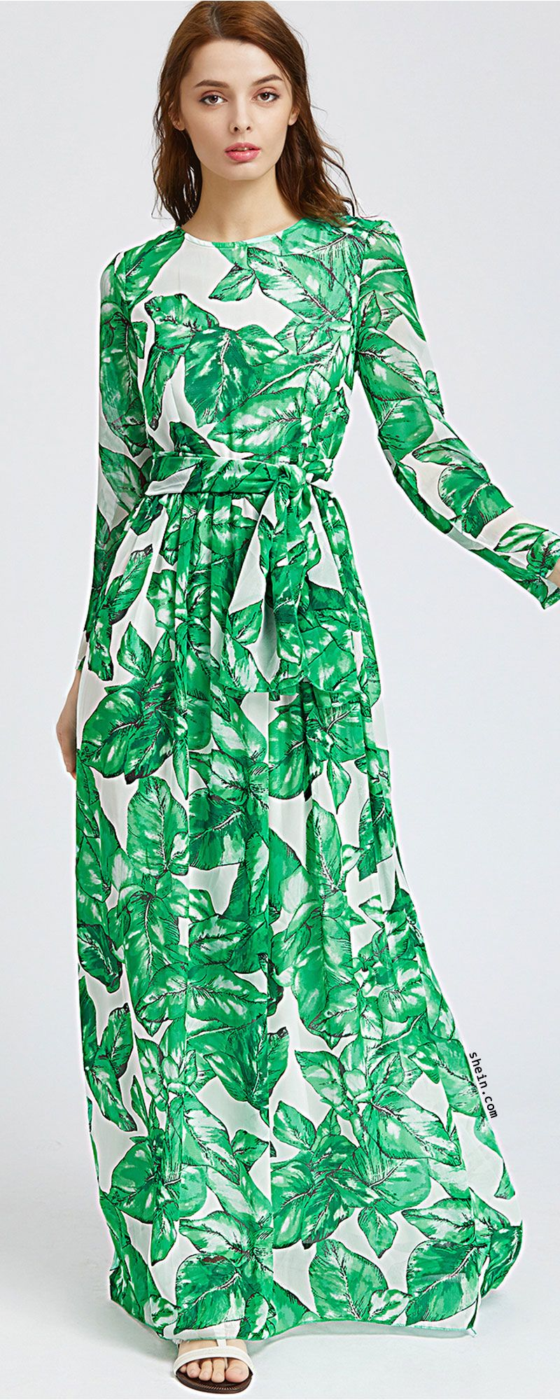 Palm leaf print maxi dress things that i want to buy pinterest